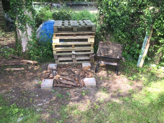 Foundation and amphibian habitat complete with pallets ready to go.