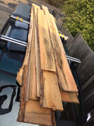 Seasoned Larch boards aplenty!