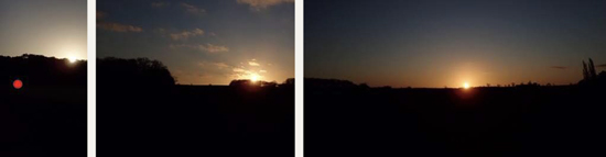 Sunrise throughout the year