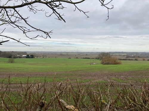 Hedgerows removed to create large open fields for mechanisation of the land