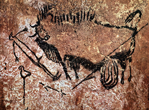 Shaft Scene at Lascaux By I, Peter80, CC BY-SA 3.0