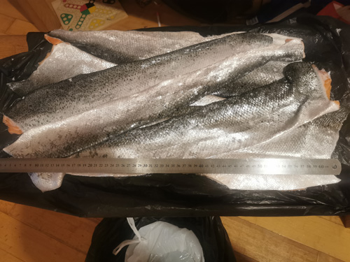 Skins from the fishmonger