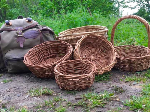Baskets ready for foraging