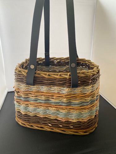 Picture of the basket where I wanted to replace the store-bought items for natural materials.