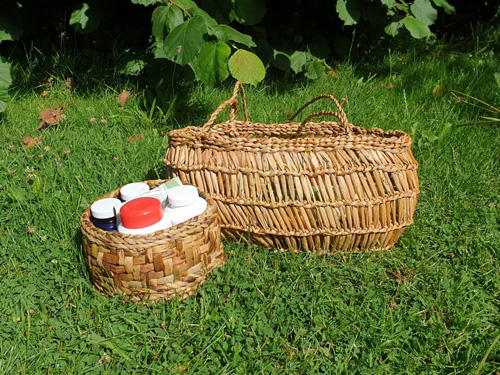 New baskets! Credit for designs to Felicity Irons and Nadine Anderson in 'Rush Basketry' (Photo: Nicola Strange)