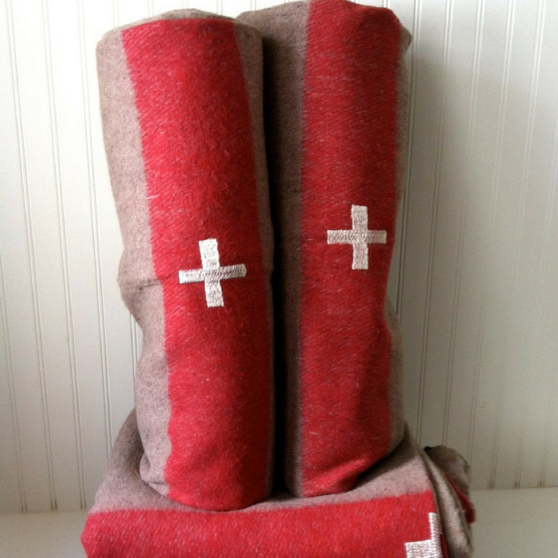 Swiss Army Style Heavy Weight Blanket 80%Wool