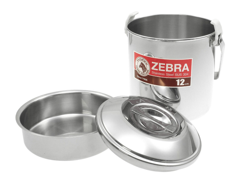 Zebra Stainless Steel Billy Can 12cm