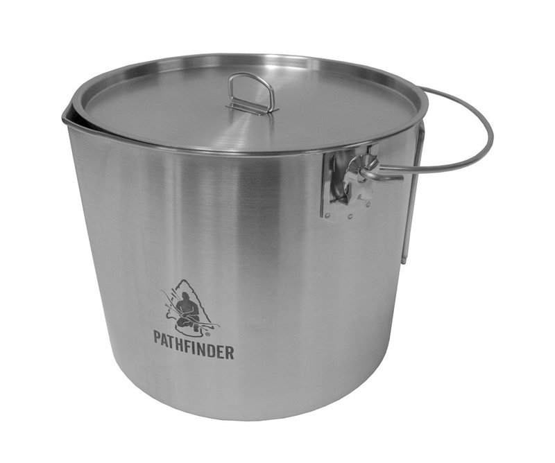 Pathfinder Large Bush Pot & Lid Set Stainless Stee