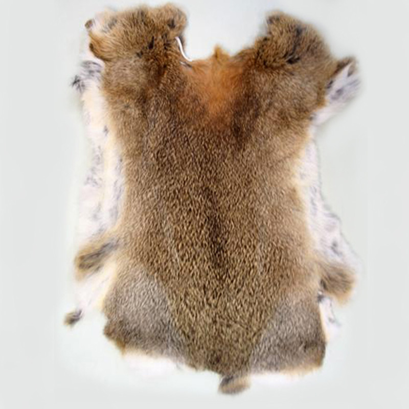 Rabbit Skin Tanned Natural Colour