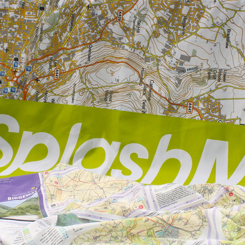 SplashMaps Waterproof Fabric Maps