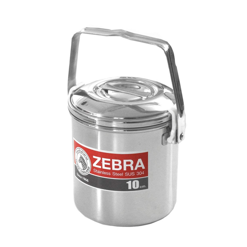 Zebra Stainless Steel Billy Can 10cm