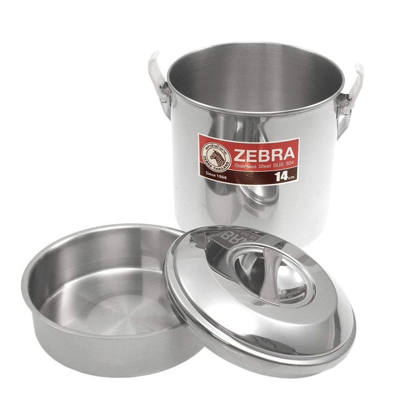 Zebra Stainless Steel Billy Can 14cm