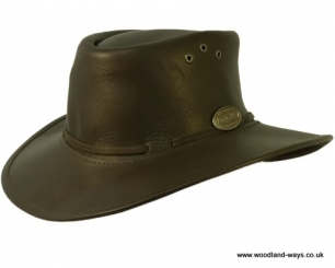 Rogue Nomad Leather packaway Hat 170X