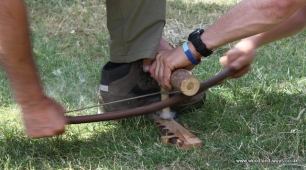 Friction Fire Lighting Bow Drill Workshop