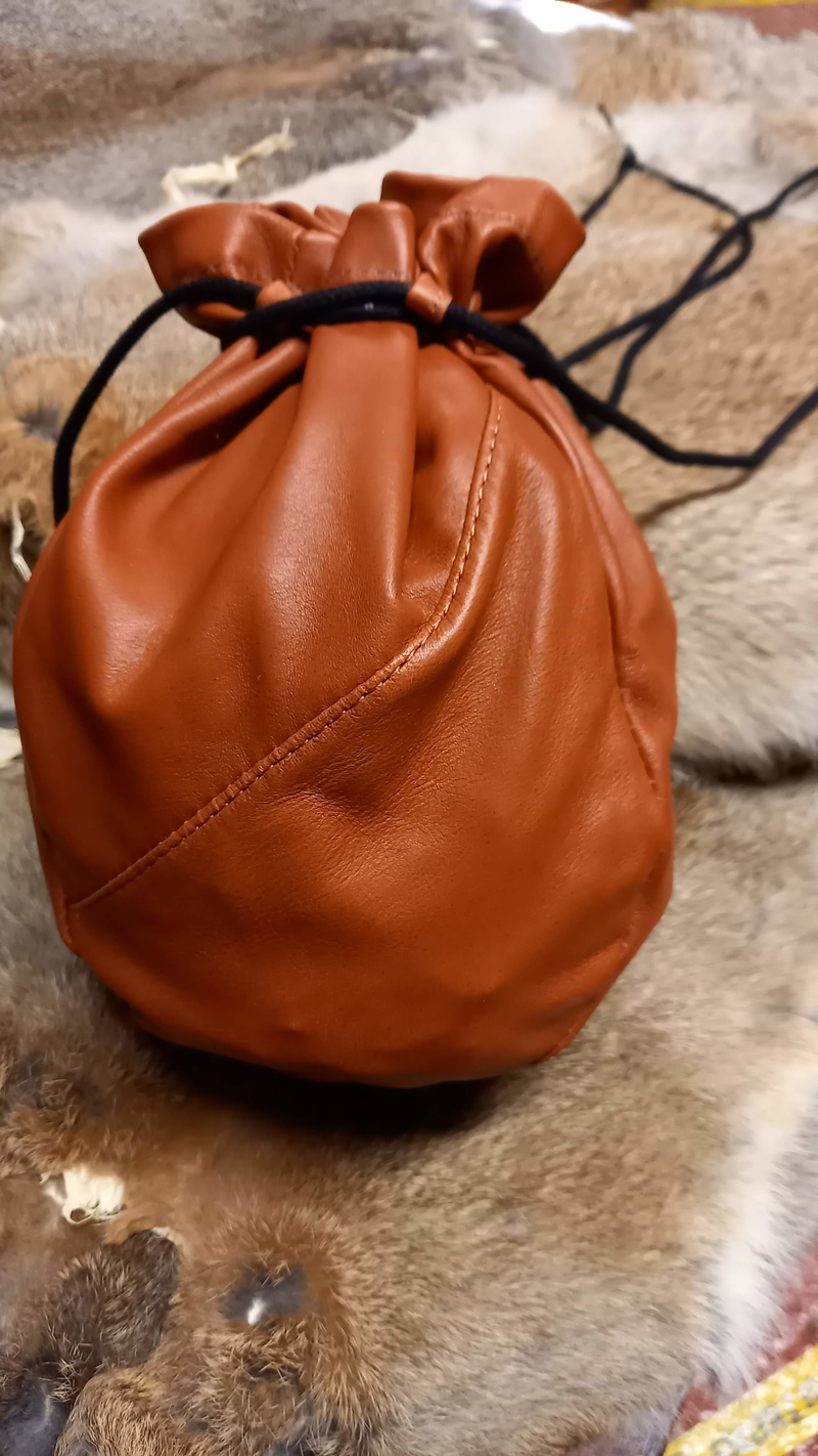 Reindeer Leather Pouch Large Tan