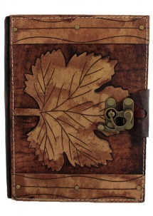 Winter Leaf Leather Journal Large
